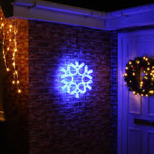 Led Snowflake Lights Outdoor by Blue Led Outdoor Lights Lighting And Ceiling Fans