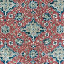 Upholstery Fabric Southwestern Pattern B6819 Vintage Red Fabric D86 D82 Southwest Print Linen Print