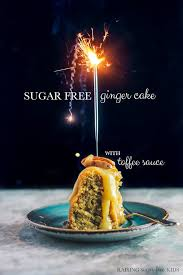 sugar free cake with toffee sauce raising sugar free