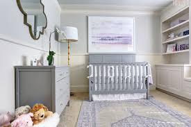gray nursery with purple accents design ideas
