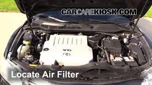 toyota camry v6 engine 2007 2011 toyota camry engine air filter check 2007 toyota camry