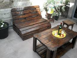 Plans For Outdoor Patio Furniture by Diy Pallet Patio Furniture For Small Area Cool House To Home
