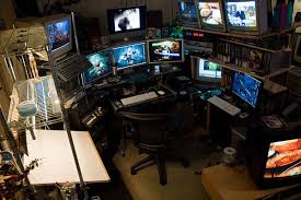 Top 96 Kick Home Office Setups by Hacker Desk Desk Design Ideas