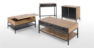 mango wood console table lomond console table mango wood and black made com
