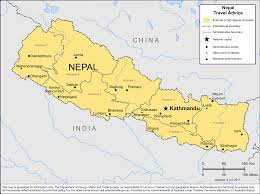 Map Nepal India by Smartraveller Gov Au Nepal