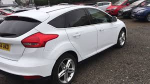 used ford focus tdci used ford focus 1 6 tdci 115 zetec 5dr frozen white 2015
