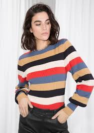 sweater in crewneck sweater multi stripe other stories