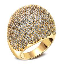 big rings design images Full stones ring latest designs dome shape micro pave setting jpg