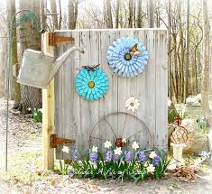 metal garden flowers outdoor decor home design ideas and pictures