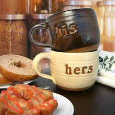 his hers mugs his hers pottery mug set from modern artisans his and hers