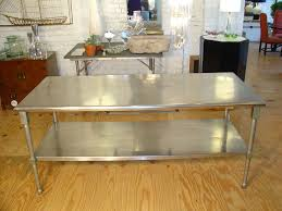Stainless Steel Kitchen Table Top Ecostorage Nsf Stainless Steel Table With Wheels 48 Inch
