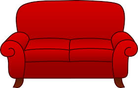 Red Sofa Furniture Red Living Room Sofa Free Clip Art