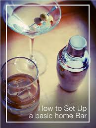how to set up a home bar bar beverage and wine