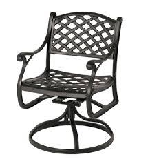 Black Cast Aluminum Patio Furniture Newport Hanamint Luxury Cast Aluminum Patio Furniture Swivel Patio