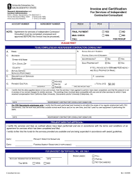 sample invoice for independent contractor and independent