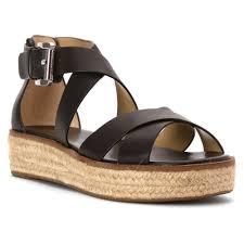 michael michael kors darby sandal in natural lyst