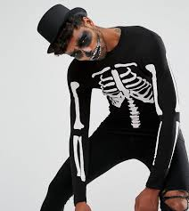 halloween t shirts for men asos tall halloween muscle long sleeve t shirt with rib cage print