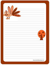 thanksgiving printable letter template festival collections