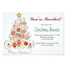 christmas brunch invitations christmas brunch invitation card zazzle