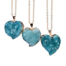 quartz gemstone necklace images Sedmart heart quartz crystal pendant pink purple blue quartz jpg