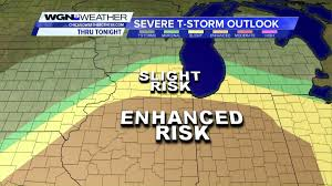 Weather Map Chicago Upgraded Risk Of Severe Storms Across Entire Chicago Area This