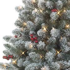 4 5 u0027 pre lit redwood pine flocked spruce tree u2014kmart