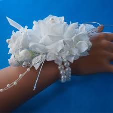 corsage prices online shop 1pc handcrafted wrist corsage bracelet artificial silk