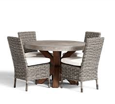 Round Patio Furniture Set by Abbott Round Dining Table U0026 Huntington Chair Set Pottery Barn