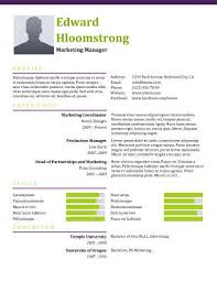 Colorful Resume Templates Free Modern Resume Templates 64 Examples Free Download