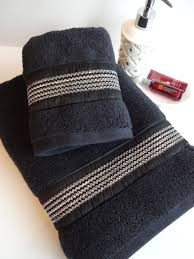 Gold And Silver Bathroom Accessories Black Gold Towels Custom Towels Black Bathroom Black