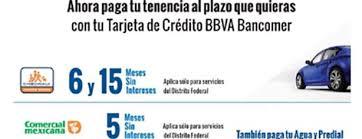 pago de tenencia 2014 df bancomer meses sin intereses en pago de tenencia agua y predial