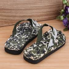 casual slippers men summer camouflage flip flops shoes sandals