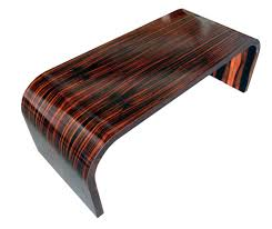 american art deco macassar ebony coffee table modernism