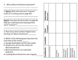 3rd grade reading wonders comprehension worksheet a mountain of