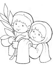 palm sunday coloring page get coloring pages