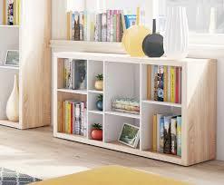 Oak Room Divider Shelves Ruby Low Wide Bookcase Open Back Room Divider Oak With White B02