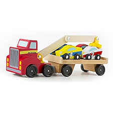Build Big Wood Toy Trucks by Amazon Com Melissa U0026 Doug Car Carrier Truck And Cars Wooden Toy
