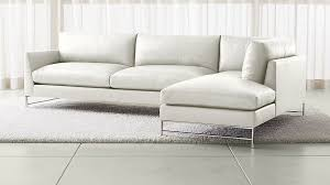 Crate And Barrel Sectional Sofa Genesis Leather 2 Piece Right Arm Chaise Sectional With Brushed