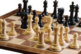 buy leningrad ebonised chess pieces u0026 walnut chess board at