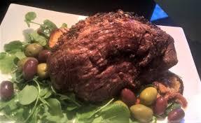 roast leg of lamb with lemon oregano u0026 olives around anna u0027s table
