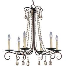 Maxim Chandeliers Maxim Lighting Adriana 6 Light Urban Rustic Chandelier 22196ur