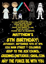 star wars birthday invitations templates best invitations card ideas
