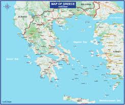 Ancient Greece Maps by Tutku Tours Greece Maps