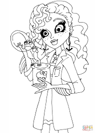 monster high lagoona coloring page free printable coloring pages