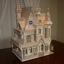 victorian doll house birch plywood laser cut kit it