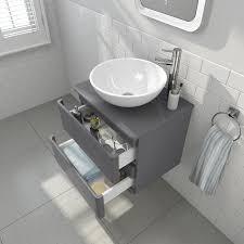 Bathroom Vanity Unit Uk by Modern Wall Mounted Grey Bathroom Vanity Unit Countertop Sink