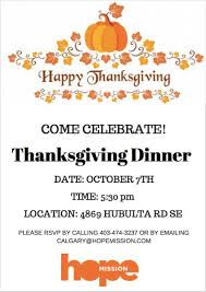 family thanksgiving dinner at mission calgary calgary