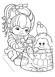 rainbow brite coloring pages throughout itgod me