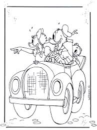 download donald driving car daisy disney coloring pages