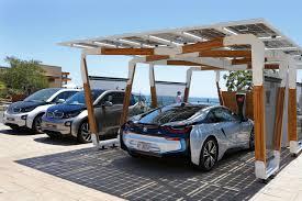 Bmw I8 Custom - bmw i solar carport concept powers i8 and home slashgear